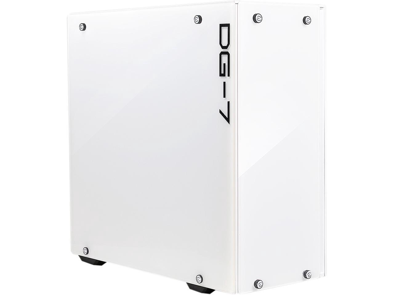 Корпус EVGA 156-F1-2022-KR DG-75 Alpine White MID-Tower, 2 Sides of tempered glass