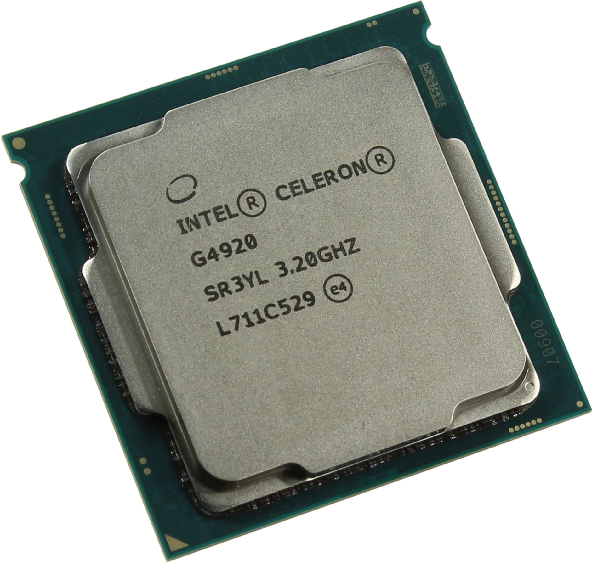 Процессор Intel Original Celeron G4920 Soc-1151v2 (CM8068403378011S R3YL) (3.2GHz/Intel UHD Graphics 610) OEM