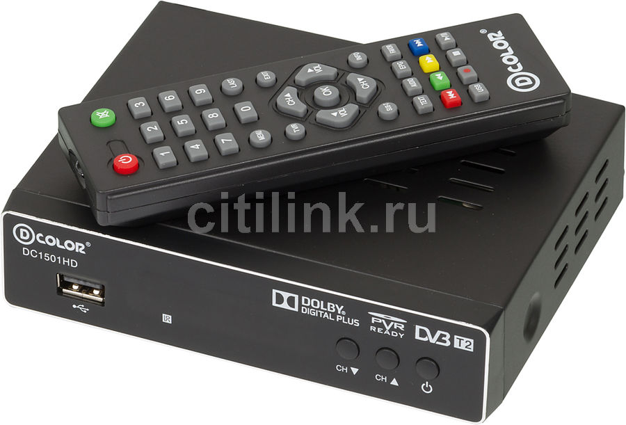 Ресивер DVB-T2 D-COLOR DC1501HD